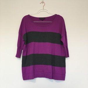 Rock & Republic Scoop Neck Striped Sweater